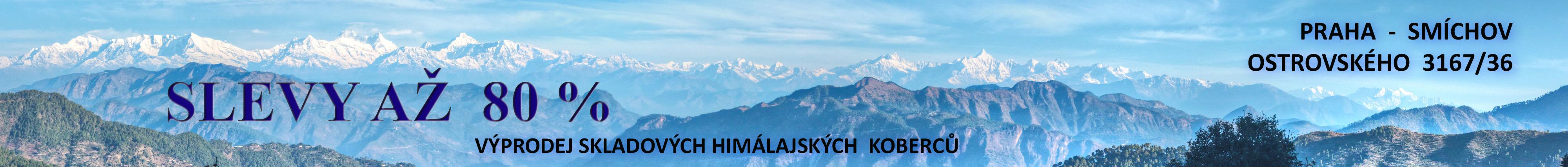 Palacka - velký výprodej himálajských koberců na Ostrovského 36 - Praha - Smíchov